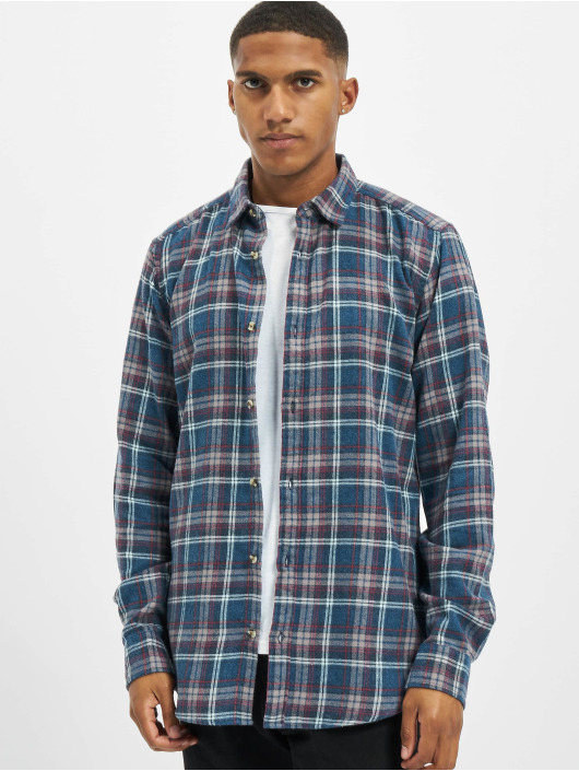 Only & Sons Chemise onsBobby Washed Yd Check bleu