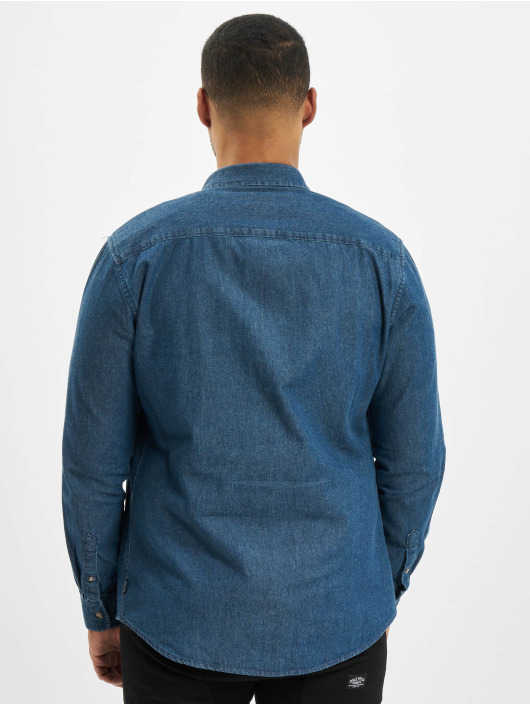 Only & Sons Chemise onsBasic Washed Denim bleu