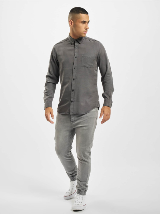 Only & Sons Chemise onsAtlas Life Dyed Tencel gris
