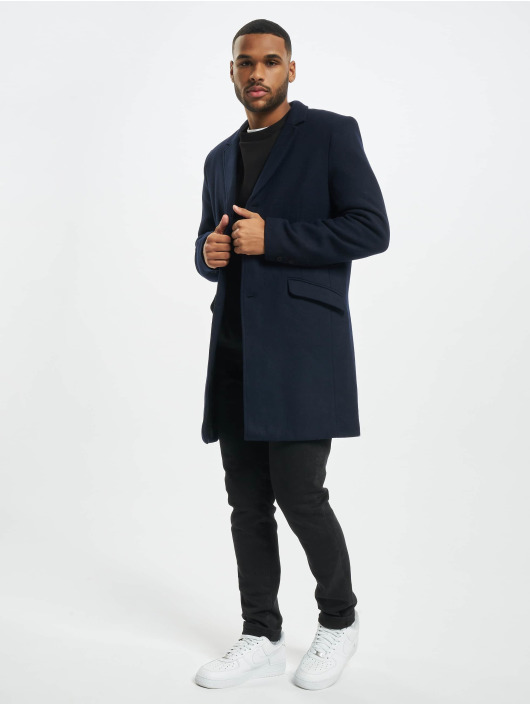 Only & Sons Coats Onsjulian Solid Wool Coat Otw Noos blue