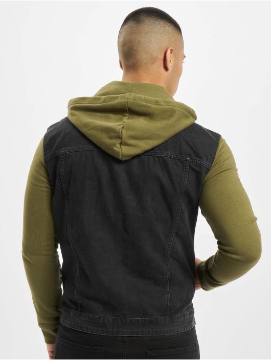Only & Sons Denim Jacket onsCoin Hooded Trucker black