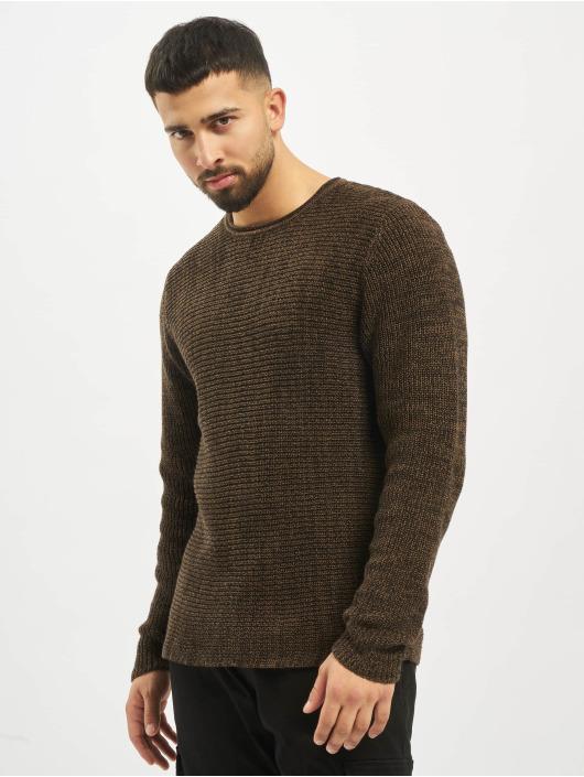 Only & Sons Gensre onsSato 5 Multi CLR Knit Noos Longsleeve brun