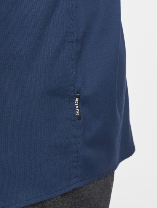 Only & Sons Hemd onsAlves 2-Ply Easy Iron blau