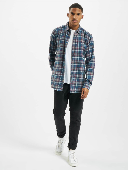 Only & Sons Hemd onsBobby Washed Yd Check blau