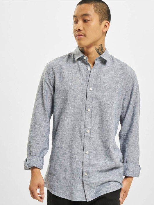 Only & Sons Hemd onsCaiden Solid Linen Noos blau