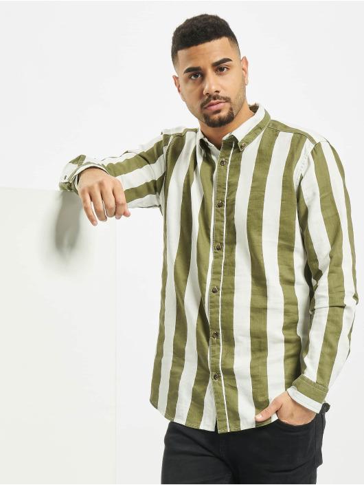 Only & Sons Hemd onsArif Ls Bold Strip grün