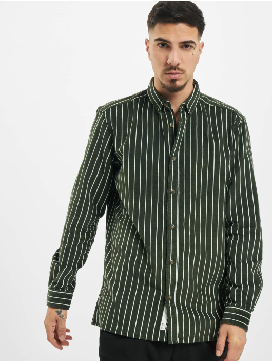 Only & Sons Hemd onsEdward Striped Corduroy grün