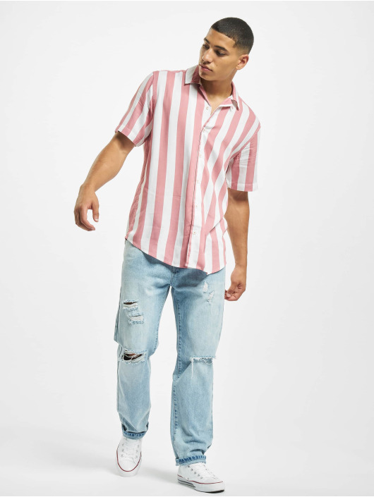 Only & Sons Hemd onsCarter Striped Viscose rosa