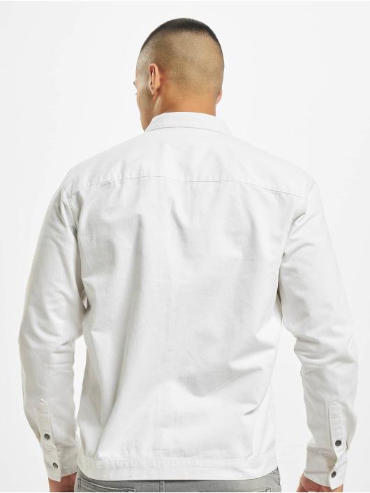 Only & Sons Hemd onsCris Herringbone Twill Overshirt weiß