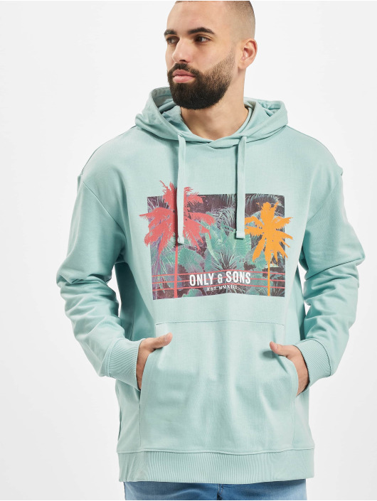Only & Sons Hoody onsBan Oversize blau