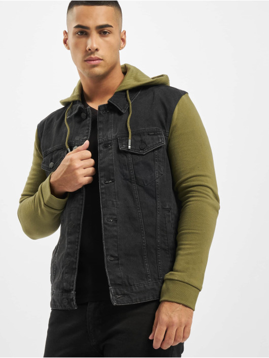 Only & Sons Jean Bundy onsCoin Hooded Trucker èierna
