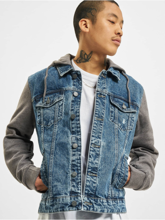 Only & Sons Jeansjacken onsCoin Life Hooded Trucker blau