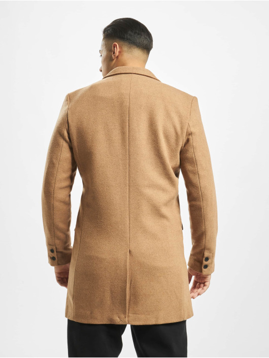 Only & Sons Kabáty onsJulian Solid Wool hnedá