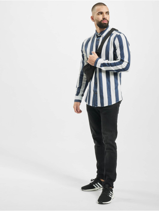 Only & Sons Košele onsArif Ls Bold Strip modrá