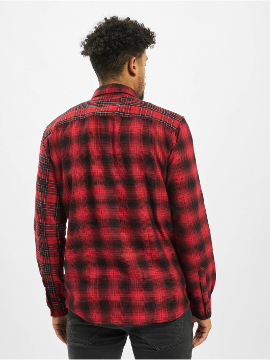 Only & Sons Koszule onsOzean Mixed Checked Regular czerwony