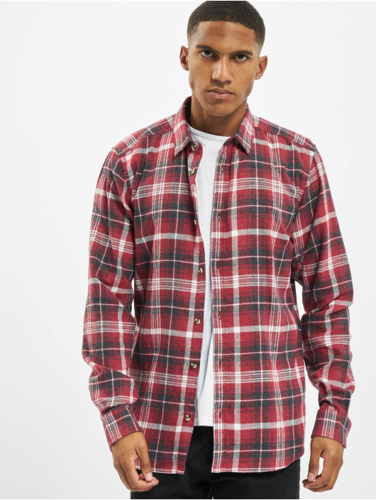 Only & Sons Koszule onsBobby Washed Yd Check czerwony