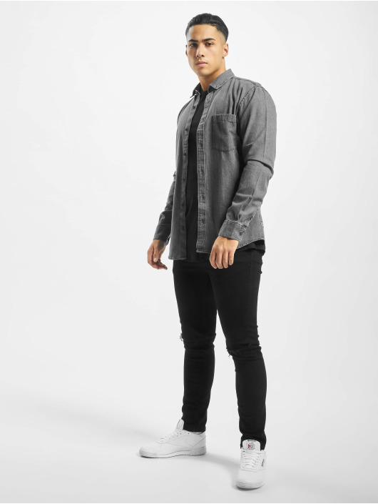 Only & Sons Langærmede Onsbasic Denim grå