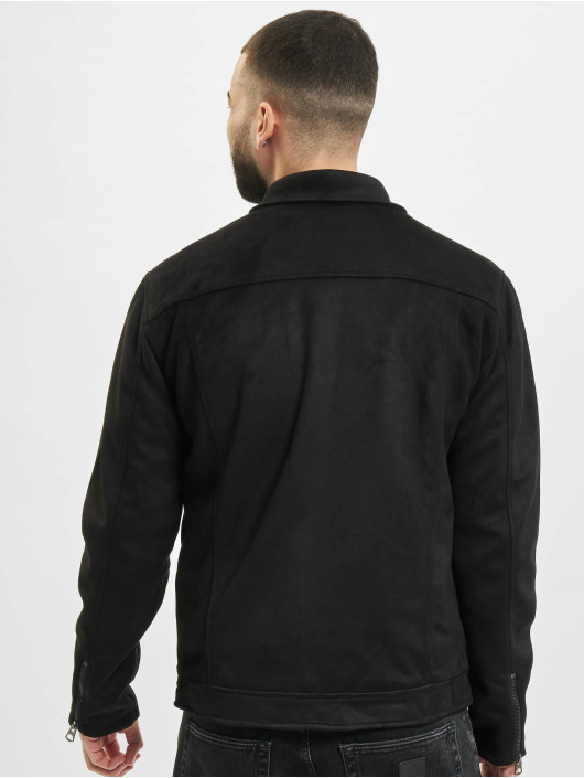 Only & Sons Leather Jacket onsJones Fake Suede black
