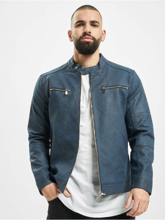 Only & Sons Leather Jacket onsFavour Jupiter Pu indigo