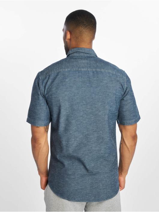 Only & Sons onsEd Slub Chambray Denim Shirt Dark Blue Denim