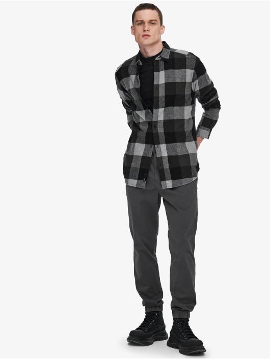 Only & Sons overhemd Onsgudmund Check grijs