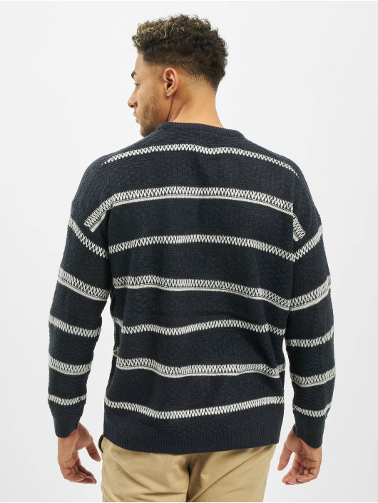 Only & Sons Pullover onsPerry 5 Struc Stripe Knit blau
