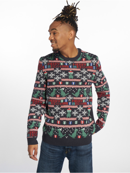 Only & Sons Pullover onsXmas 7 Jaquard blue