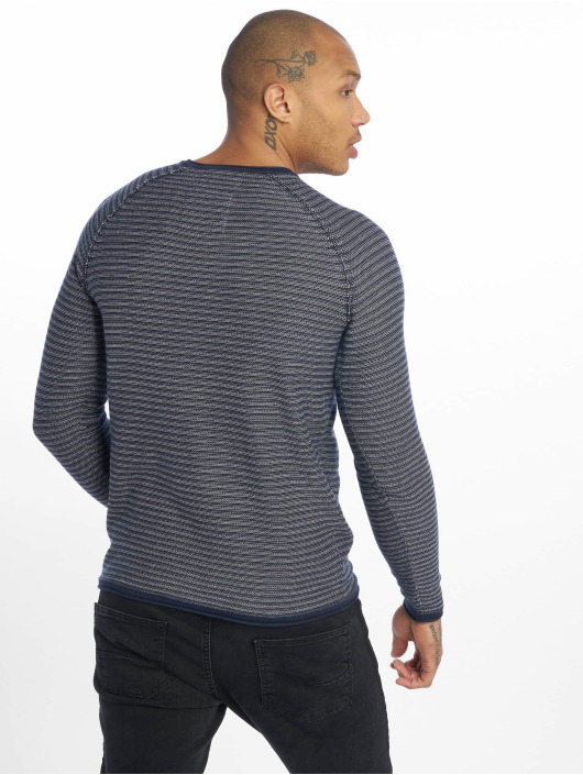 Only & Sons Pullover onsBoris Jaquard Struc Knit blue