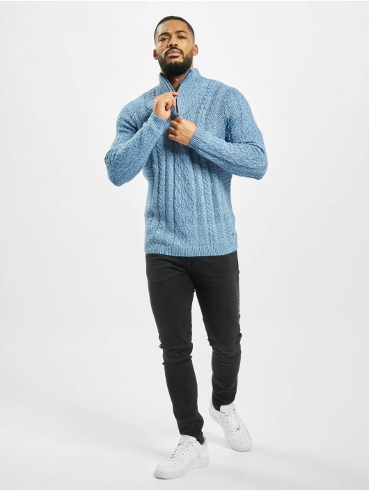 Only & Sons Pullover onsPhil 7 Zipper Knit blue
