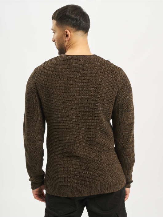 Only & Sons Pullover onsSato 5 Multi CLR Knit Noos Longsleeve brown