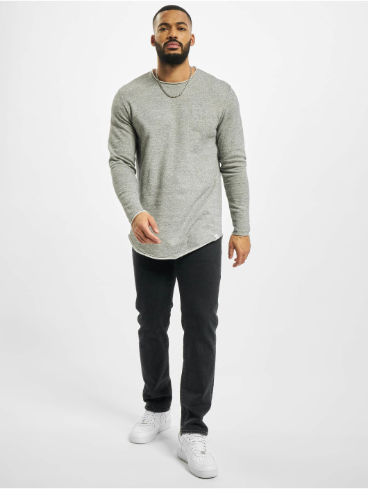 Only & Sons Pullover onsBoris Life Longy Raw Edge gray