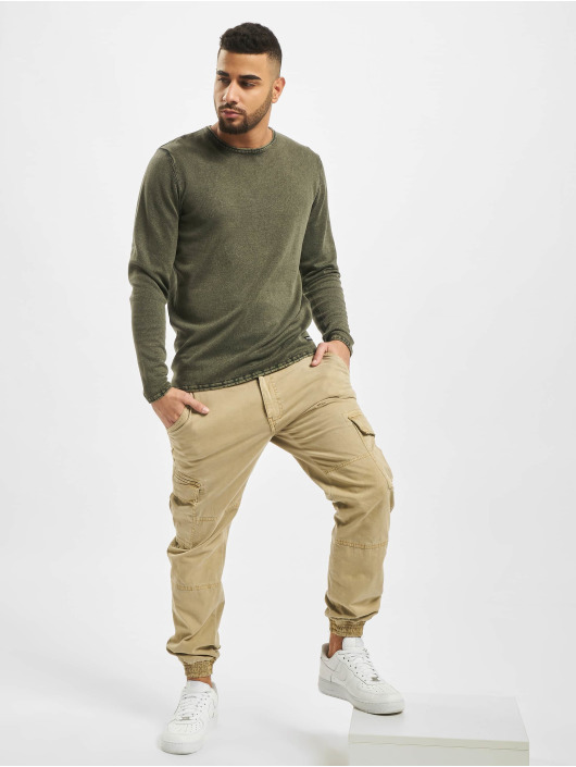 Only & Sons Pullover onsGarson 12 Wash Knit Noos green