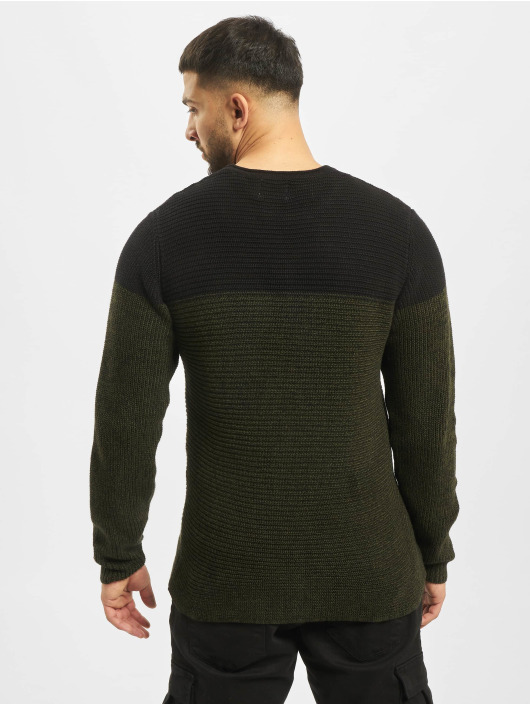 Only & Sons Pullover onsSato 5 Colorblock Knit Noos grün