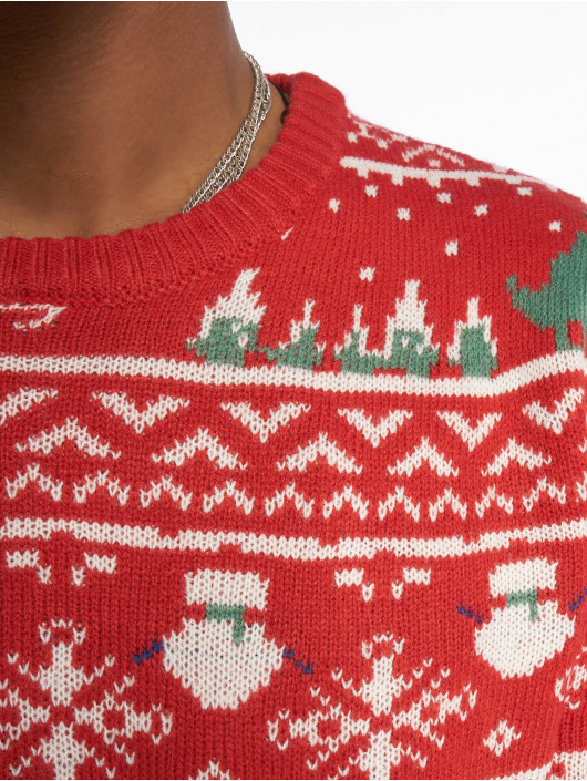 Only & Sons Pullover onsXmas 7 Jaquard red