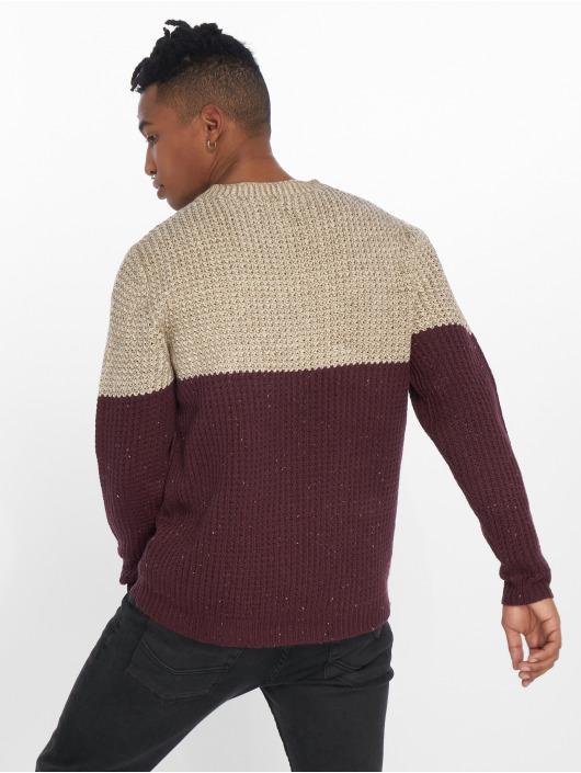 Only & Sons Pullover onsLazlo 3 Blocked Knit Regular red