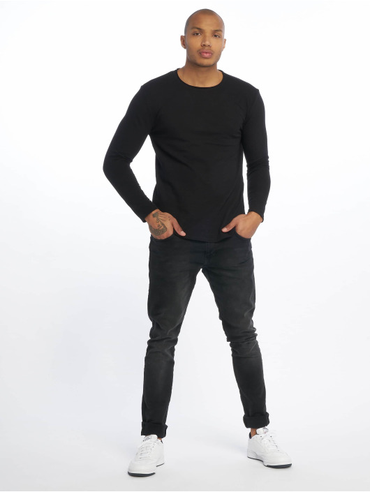 Only & Sons Pullover Onslake Slub Longy Ls Tee Tall schwarz