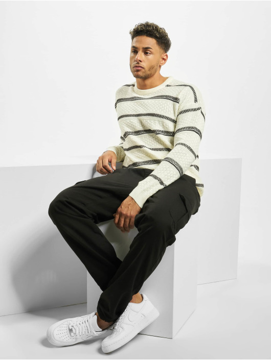 Only & Sons Pullover onsPerry 5 Struc Stripe Knit white