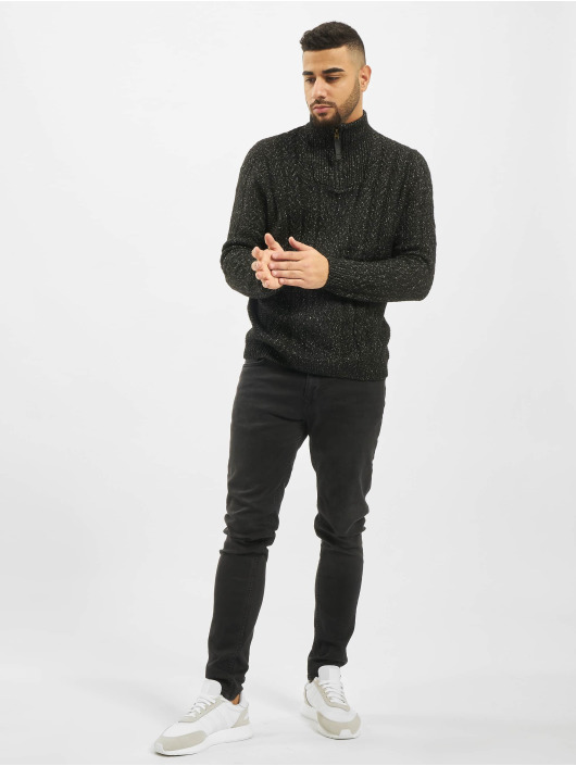 Only & Sons Pulóvre onsPhil 7 Zipper Knit èierna