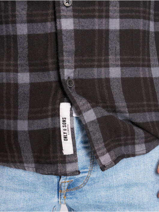 Only & Sons Shirt onSkirk Dyed black
