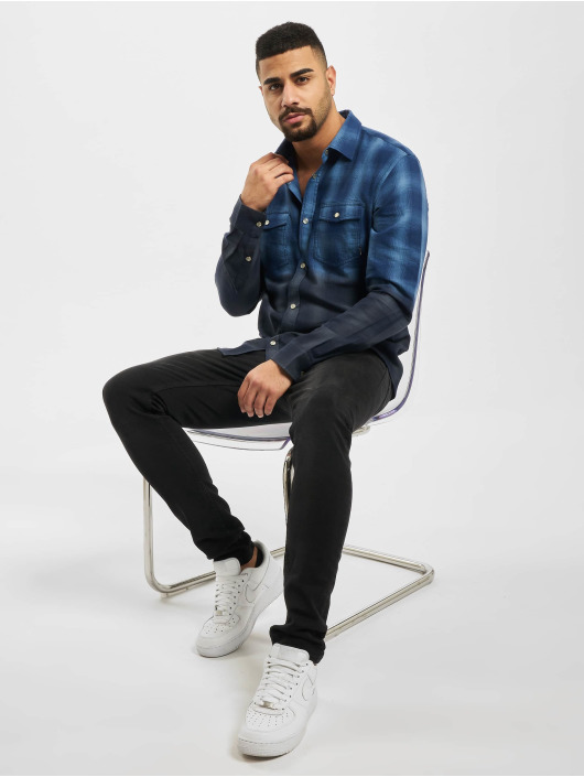 Only & Sons Shirt onsAksel Real Indigo Dip Dye blue