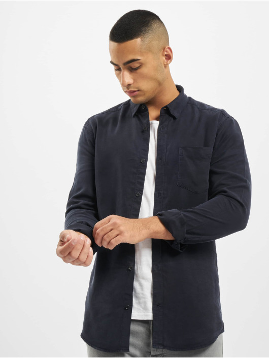 Only & Sons Shirt onsAtlas Life Dyed Tencel blue