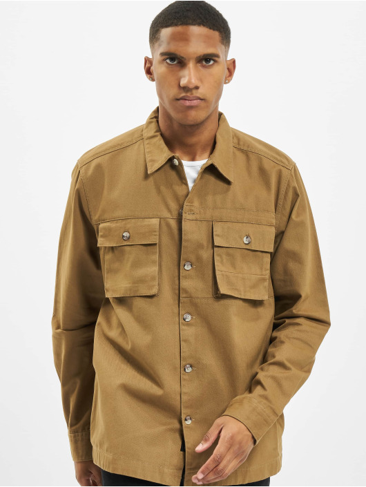 Only & Sons Shirt onsIlvio Life Heavy Twill brown
