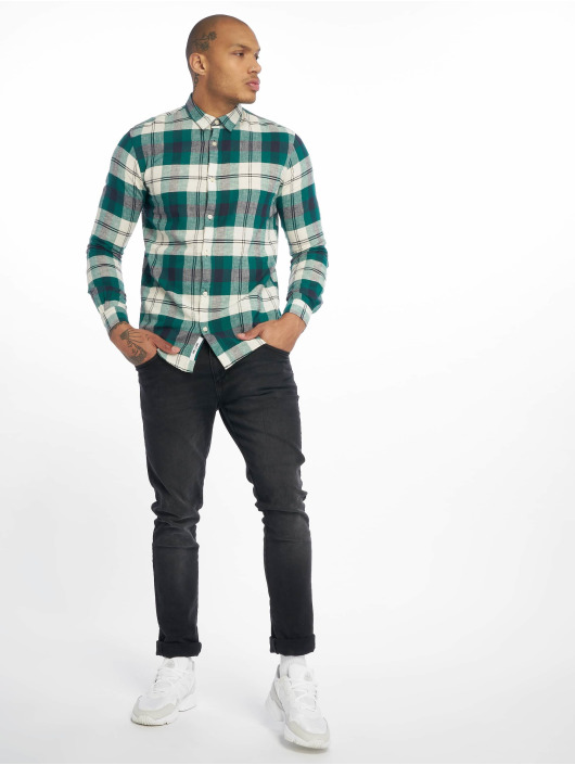 Only & Sons Shirt onsCaiden Check Linen green