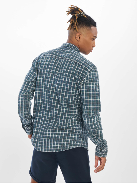 Only & Sons Shirt onsStone Checked Indigo green