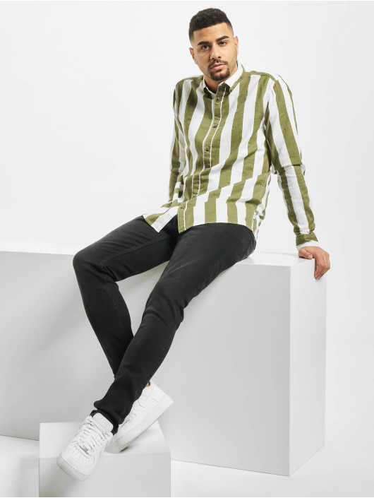 Only & Sons Shirt onsArif Ls Bold Strip green