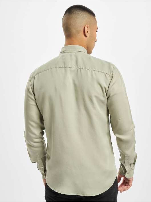 Only & Sons Shirt onsAtlas Life Dyed Tencel green