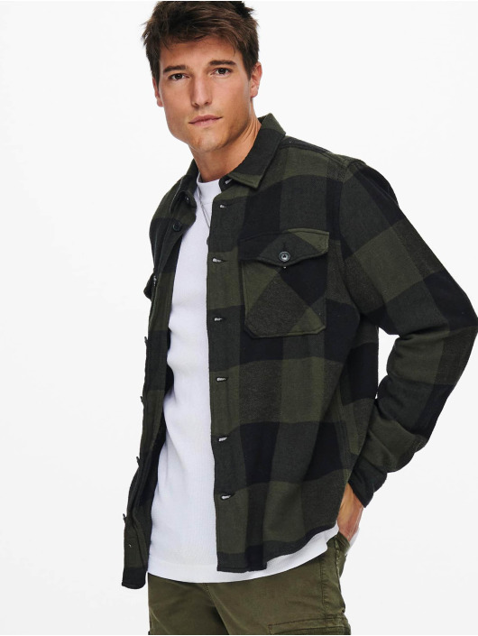 Only & Sons Shirt Onsmilo Life green