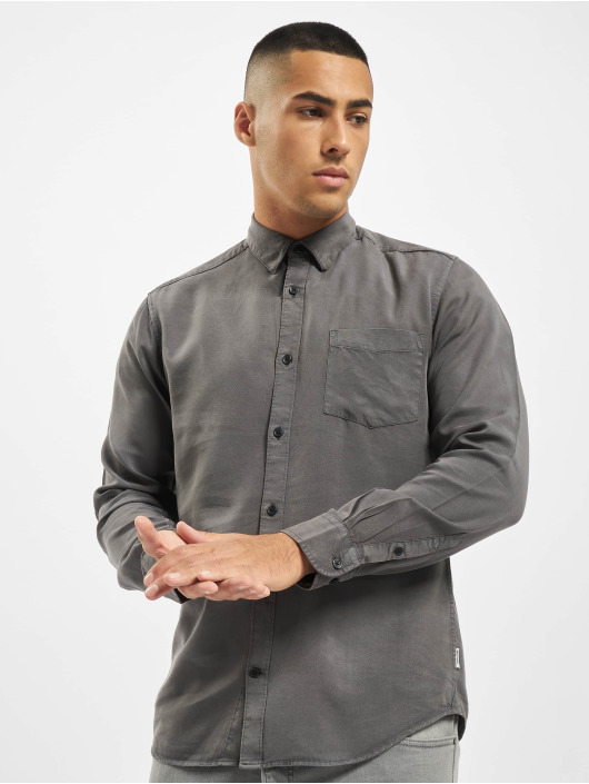Only & Sons Shirt onsAtlas Life Dyed Tencel grey