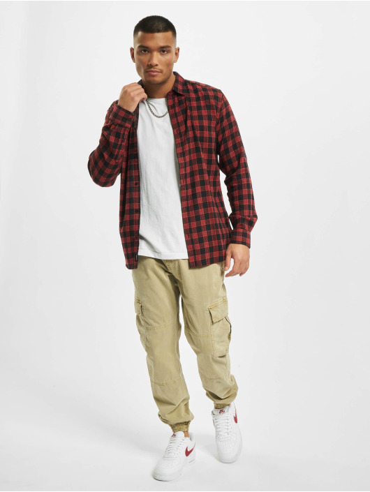 Only & Sons Shirt onsEmil Flannel Check red