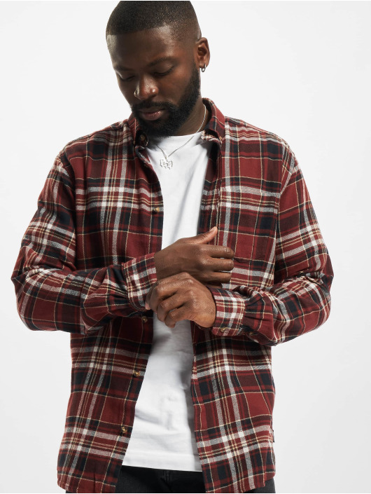 Only & Sons Shirt Onssimon Checked Flannel red